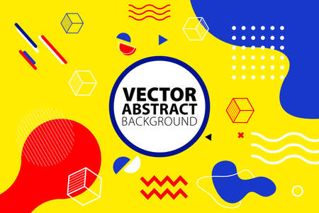 Abstract Geometric Background Memphis Style. Applicable for placards, brochures, posters, covers and banners. Vector illustration.