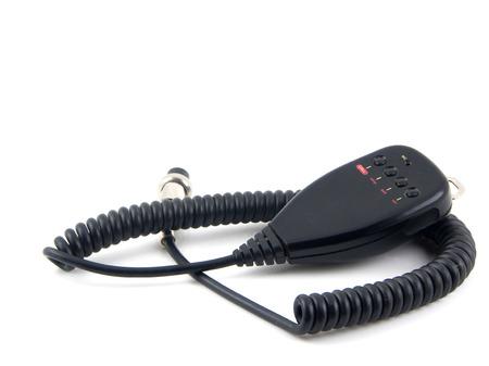 condenser: Electret condenser mic on a white background Stock Photo