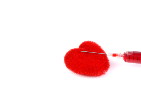 syring: red heart and syring