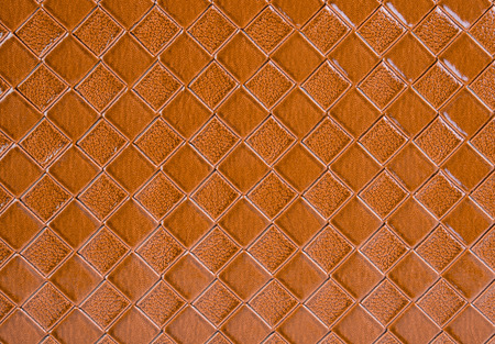 structured: Brown leather texture background Stock Photo