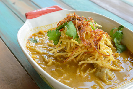 soi: Khao Soi (Northern Thai Noodle Curry Soup) Stock Photo