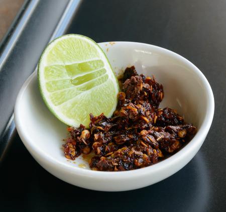 paste: thai chilli paste Stock Photo