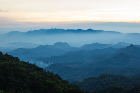 chiangmai: Mountain in evening at North, Thailand