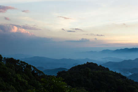 Mountain in evening at North, Thailand
