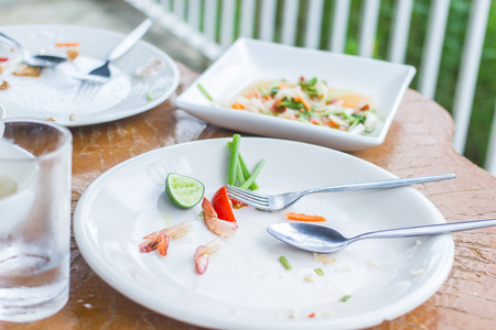 blotted: Dishes that have not been washed