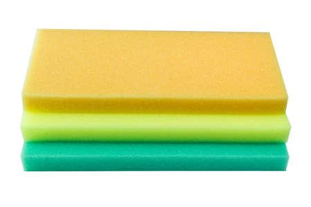 Sponge isolated against white background photo
