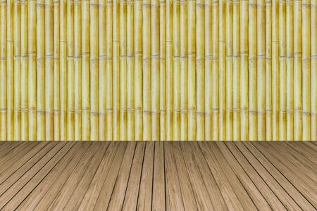 wood crate: old bamboo with pine wood crate background texture Stock Photo