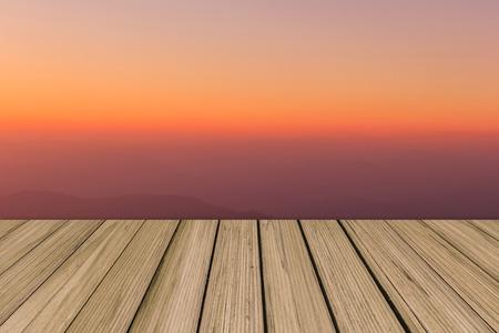 orange sunset: Sky gradient from blue to orange sunset