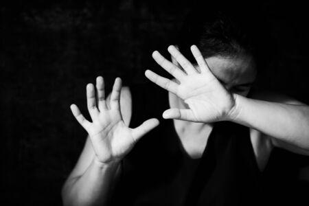 Stop Sexual abuse Concept, stop violence against Women, international women's day Foto de archivo