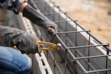 steel bar on site of construction