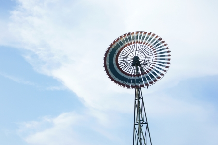 Old wind turbine with beautiful blue sky background Stock Photo - 15587050