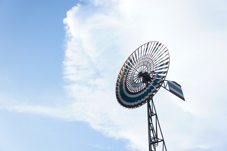 Old wind turbine with beautiful blue sky background Stock Photo - 15587051