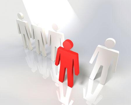 uomo rosso: Mettendo in luce l'uomo rosso che passo avanti