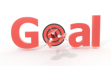 red arrow and goal text photo