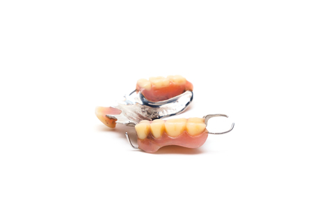 old man real denture stainless steal type.