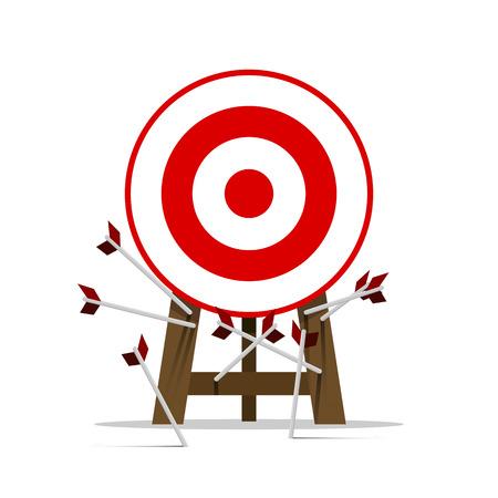 ミス ターゲット目標ベクトル成功ビジネス戦略コンセプト アイコン  イラスト・ベクター素材