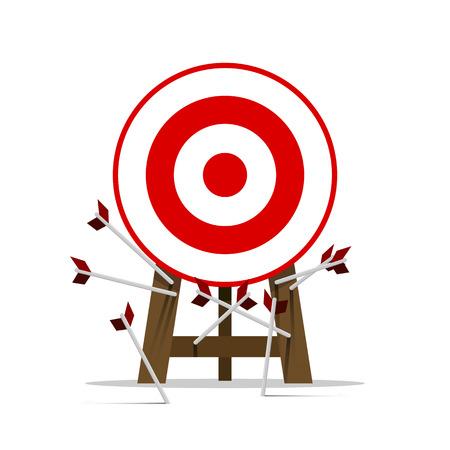 Miss target, goals vector success business strategy concept icon Ilustrace