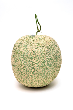 Melon on the isolated white background. Fresh and Raw fruit from farm. 版權商用圖片