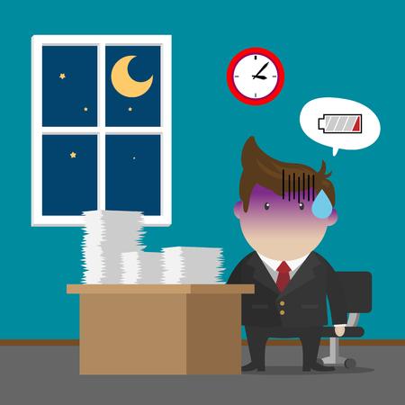 Businessman Burnout Syndrome after Hard Working .