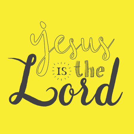 Jesus is the Lord Calligraphy on iSolated Yellow Background.  イラスト・ベクター素材