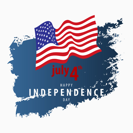 4th July Independence Day Vector Card Template.