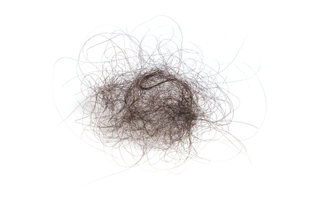 Heap Hair Fall Problems on the iSolated White Background.