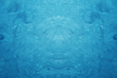 Creative Blue Color Rough and Grunge Concrete Texture Background.