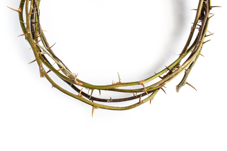Jesus Christ Crown Thorns on iSolated White Background.