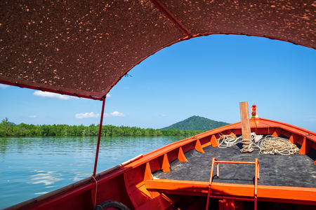 Tourist Sea Boat inside travel in the Nature Island in Thailand Sea. 写真素材