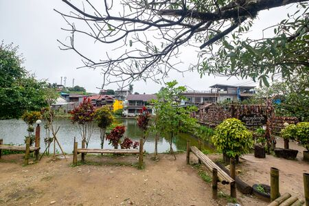 2019-07-30 Pilok Village in the Morning Karnchanaburi, Thailand. 報道画像