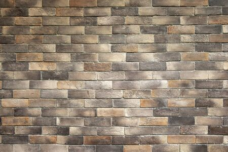 Old Decoration Style Brown Brick Wall Texture Background. Banco de Imagens - 132125218