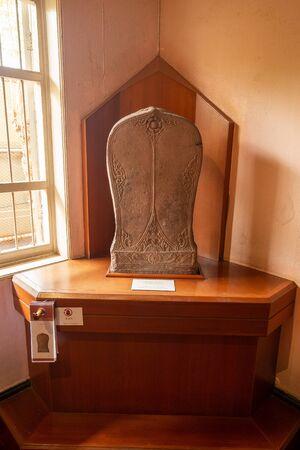 2019-10-19 Ayutthaya Period Boundary Stone in the Ratchaburi Museum, Thailand.