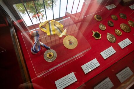 2019-10-19 Asean Games Gold and Silver Medal in Ratchaburi Museum, Thailand.