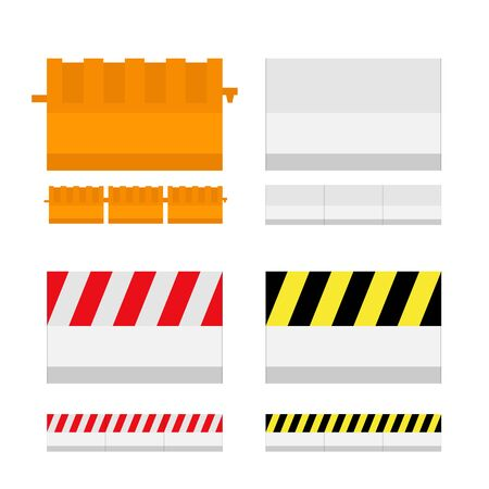 Flat Style Concrete Barrier, On Road Transportation Protection and Blocked.