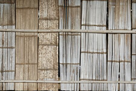 Tribal Style Bamboo House Wall, Nature Material with Handcraft.