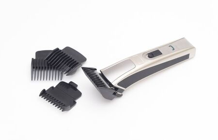 Brand New Hair Clippers After Use on iSolated White Background
