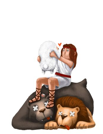 David Save the Sheep Life from Bear and Lion with His Bare Hand.