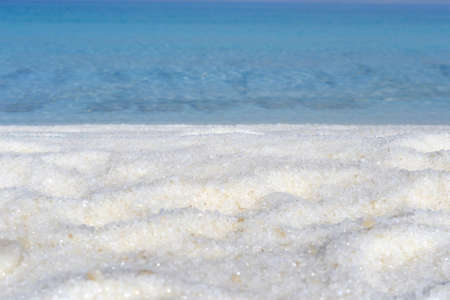 Dead Sea salt natural mineral formation at the Dead Sea 写真素材