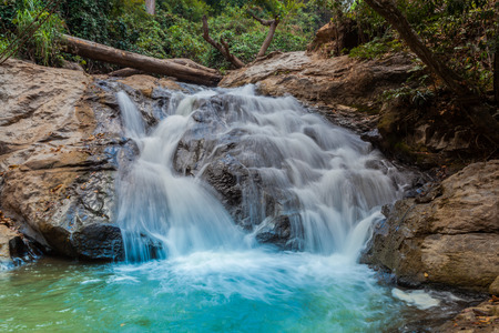 Mae Sa waterfall in Doi Suthep and  Doi Pui national park,Chiang Mai,Thailand Stock Photo