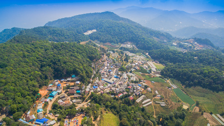 Mon Jam is a landmark on the high mountain in Chiang Mia province. At the top of the hill the weather is very good. It is a place to rest. Many tourists will visit beautiful scenery