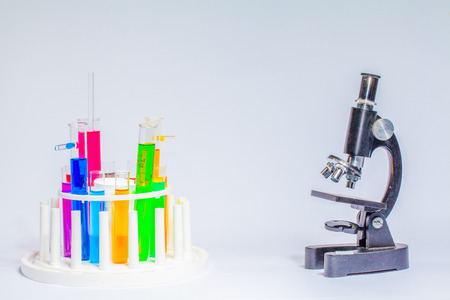 Learn about science in a laboratory using a combination chemistry. Try it in a glass tube and microscope.