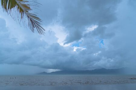 white cloud in blue sky  at  black beach view point Trat Thailand Reklamní fotografie