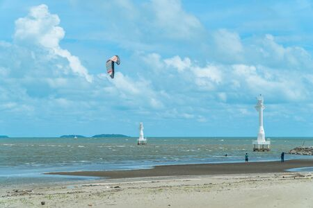 kite surfs sport   are very popular sea ports in Rayong province. Because the wind is constantly blowing allowing athletes to play that throughout the day