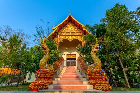 the golder temple of King Mengrai the Great in CHiang Rai