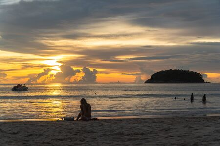 Kata Beach is a beautiful beach with white sand and smooth waves perfect for relaxing and swimming.  There is a unique Pu island close to Kata  beach.