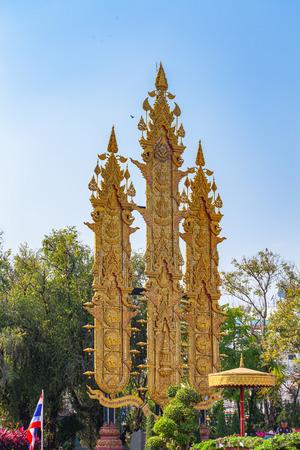 CHIANG RAI, THAILAND - FEBRUARY, 21, 2018 : CHIANG RAI,THAILAND-FEBRUARY,21,2018: Tung Luang in the Chalerm Phrakiat Park, Chiang Rai 新聞圖片