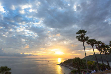 The sugar palm is a symbol of Promthep cape viewpoint. Promthep cape viewpoint is the most popular viewpoint in Phuket. the most tourist always come to see sunset at this landmark.