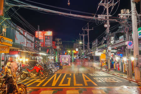 Phuket,Thailand - November 06,2020:During the time of the coronavirus outbreak, tourist destinations were sluggish. The Walking Street at Soi Bangla, Patong, Phuket has encouraged tourism to return. Редакционное