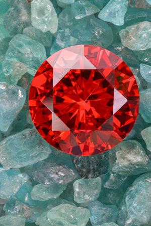 amethyst diamond put on raw Ruby Rough Gemstone