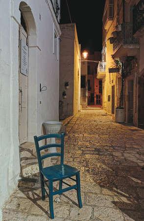 glimpse of a street in Polignano a Mare